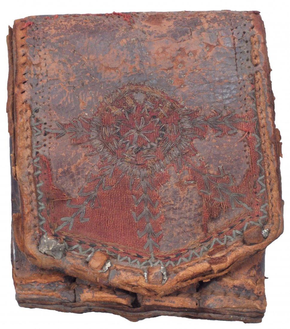 19: ANTIQUE OTTOMAN BULLET POUCH C.1700-1800.