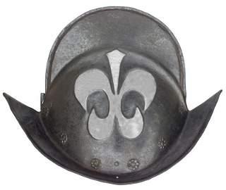 7: A GERMAN MORION C.1580-1600 ANTIQUE ARMOUR