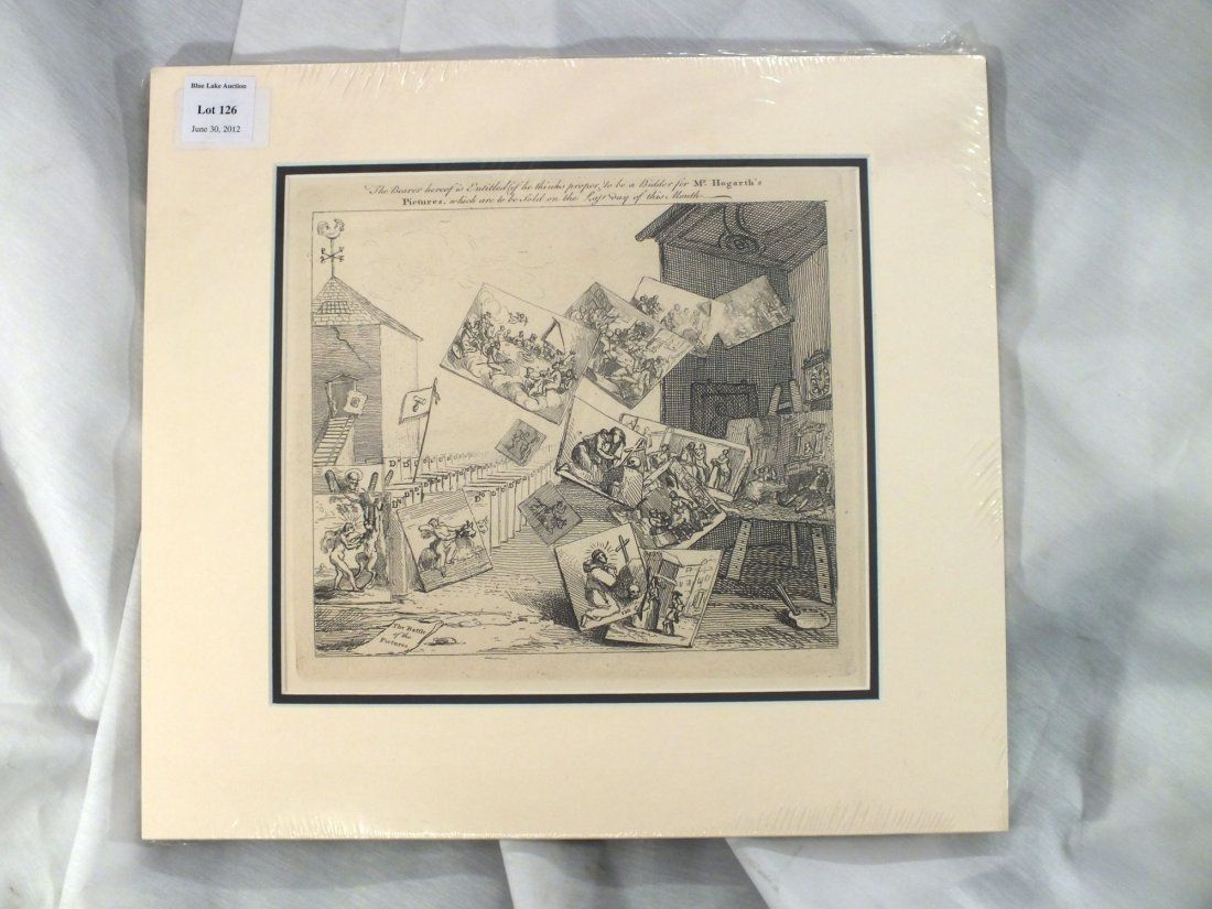 WILLIAM HOGARTH - THE BATTLE OF THE PICTURES 1743