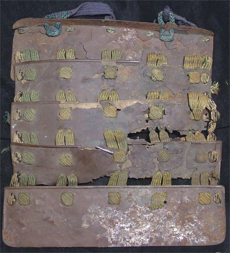 7: JAPANESE SAMURAI ARMOR FIVE PLATE IRON SODE