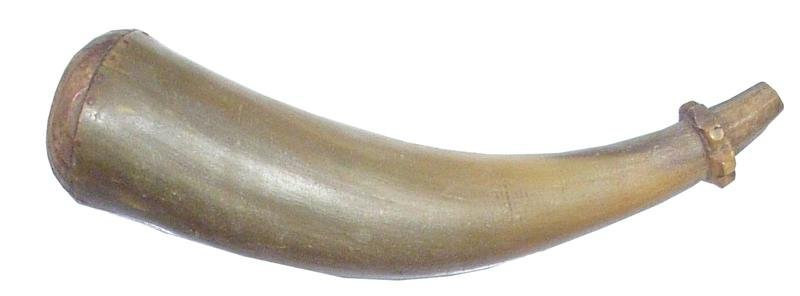 16: COLONIAL AMERICAN RIFLEMANS HORN MID 18TH C.
