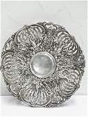 Whiting Sterling Art Nouveau Repousse Pierced Bowl bon