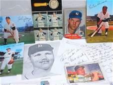 Mid Century New York Yankees Autograph Signed Lot John