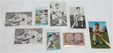 Milwaukee Braves Minnesota Twins MLB 1960s Autographs