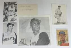 Pittsburgh Pirates Philadephia Athletics Autographs MLB