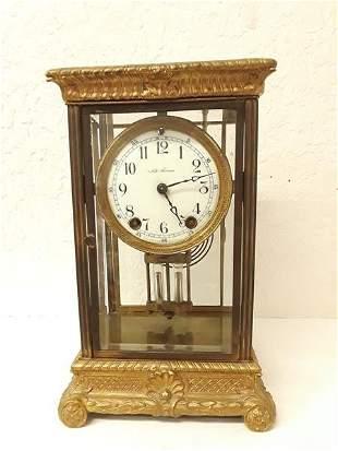 Antique Seth Thomas Crystal Regulator Clock in Working
