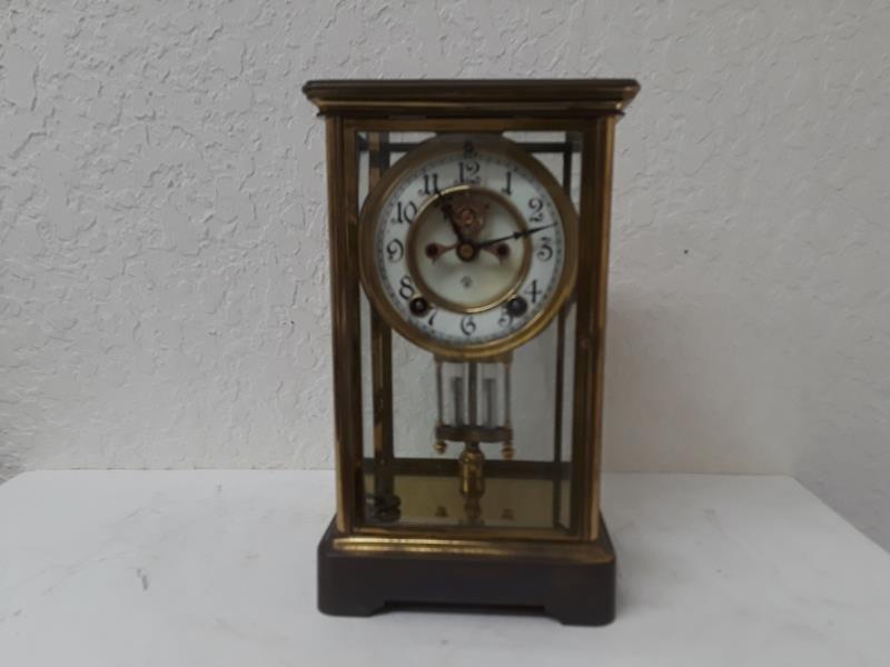 Ansonia USA Crystal Regulator Clock Working Open Escape - 10