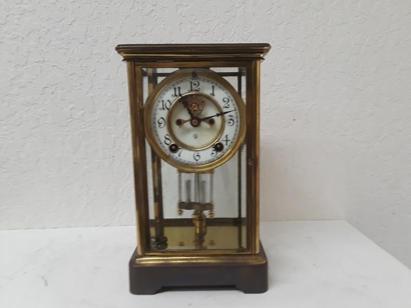 Ansonia USA Crystal Regulator Clock Working Open Escape
