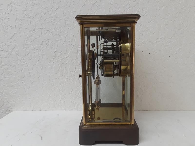 Ansonia USA Crystal Regulator Clock Working Open Escape - 4