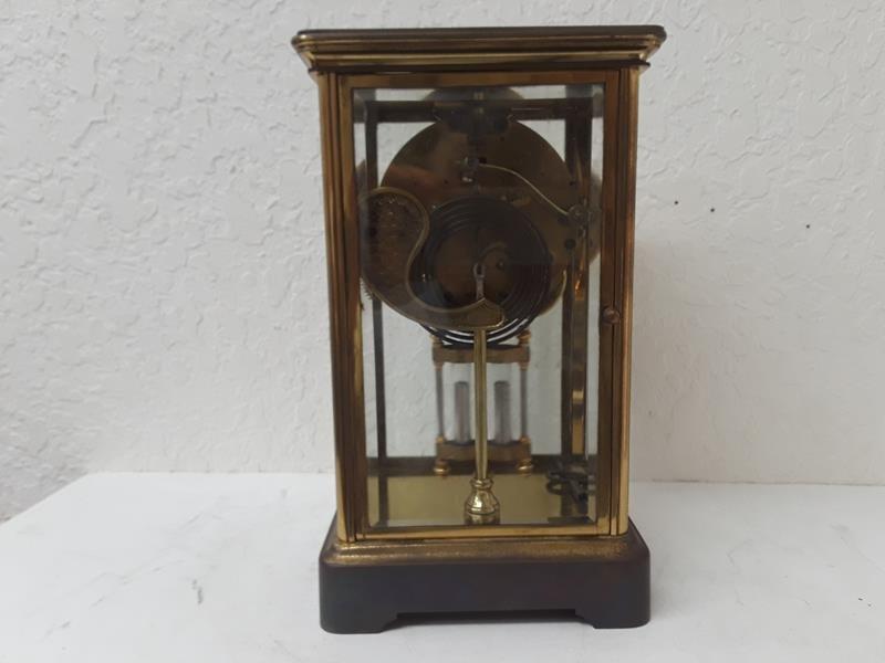 Ansonia USA Crystal Regulator Clock Working Open Escape - 5