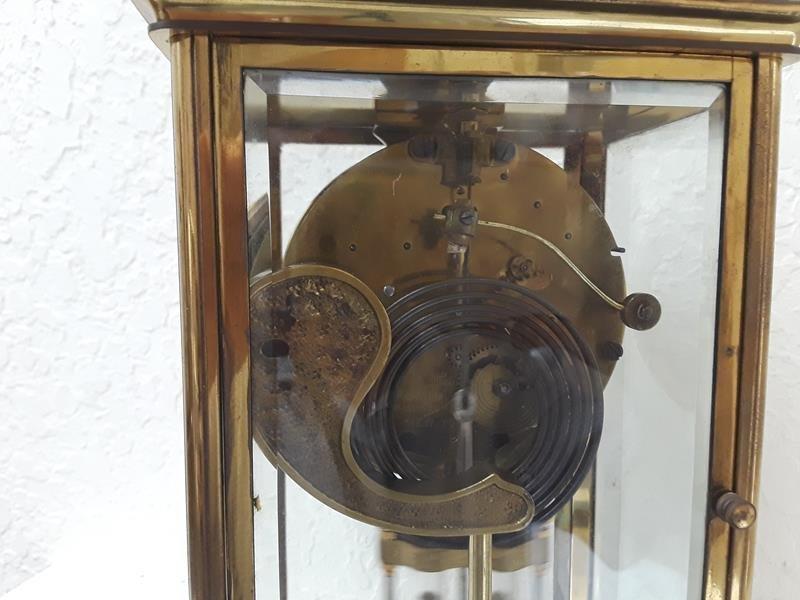 Ansonia USA Crystal Regulator Clock Working Open Escape - 6