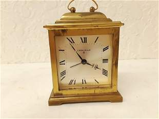 Working Caravelle Alarm Travel Small Carriage Clock