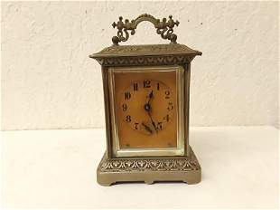 Ansonia Chime Carriage Clock Cast Metal