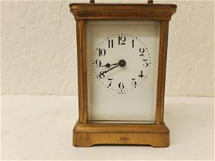 French Carriage Clock with Platform Escapement Ornate
