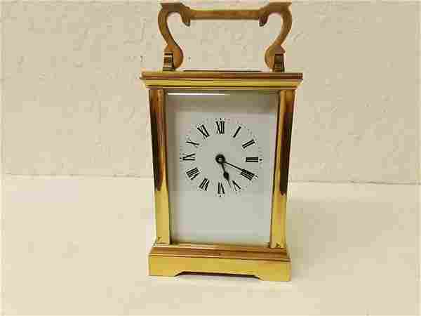 French Carriage Clock Hinged Handle Amazing