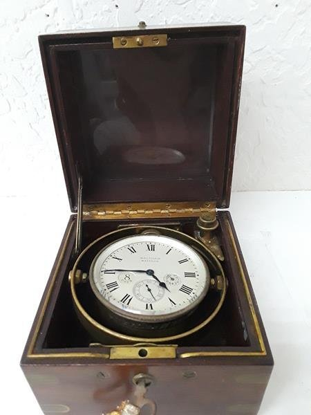 Waltham Ship Clock 8 Day UpDown Indicator in Box