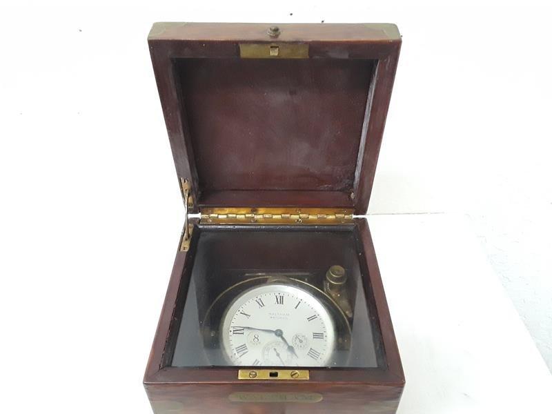 Waltham Ship Clock 8 Day UpDown Indicator in Box - 4