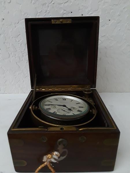 Waltham Ship Clock 8 Day UpDown Indicator in Box - 7