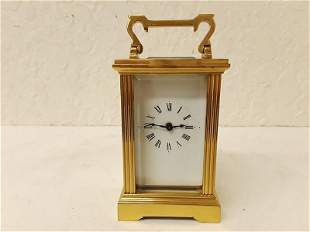Very Small French Carriage Clock Columns BEVELED