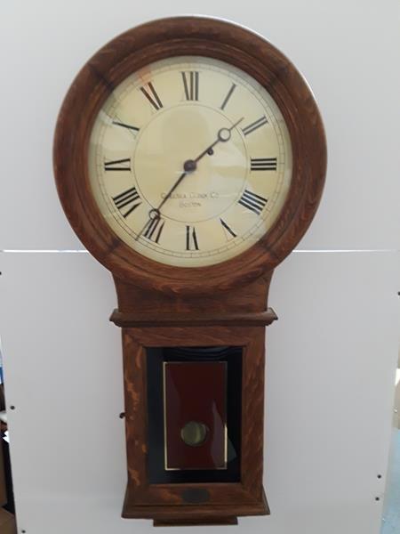 Chelsea Clock Co. Boston Wall Clock Honey Maple Case