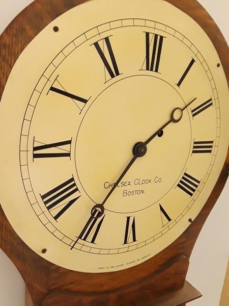 Chelsea Clock Co. Boston Wall Clock Honey Maple Case - 7