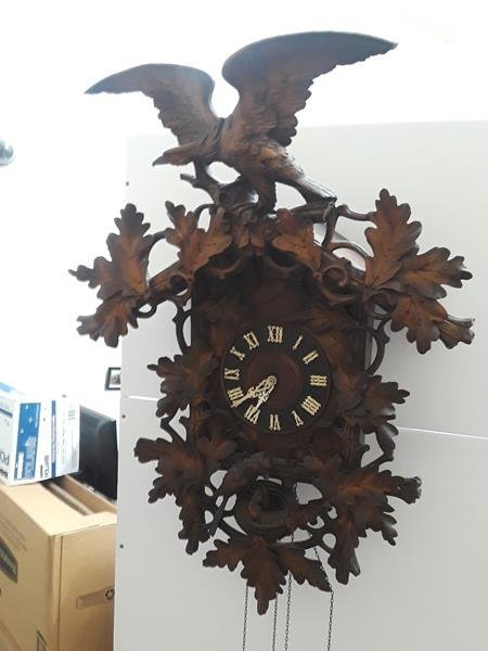 Antique German Black Forest Antique Cuckoo Clock Wood