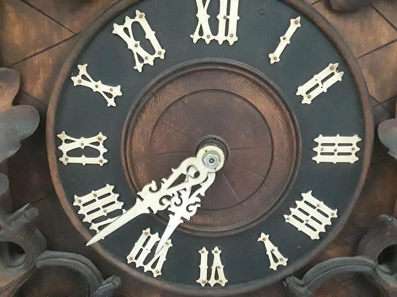 Antique German Black Forest Antique Cuckoo Clock Wood - 8
