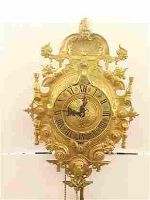 Ornate Bailey Banks Biddle Antique Cartel Chiming Clock