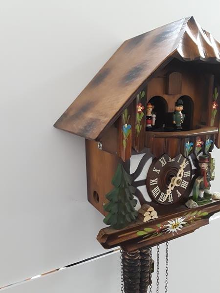 Vintage German Cuckoo Clock Bavarian Black Forest Clock - 2