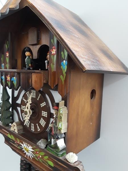 Vintage German Cuckoo Clock Bavarian Black Forest Clock - 6