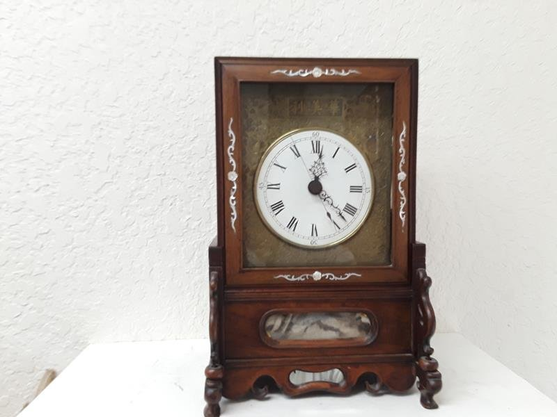 Antique Chinese Fusee Qing Export Chiming Bell Clock