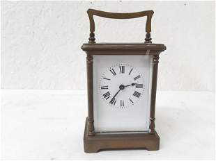 Running French Carriage Clock Running Antique