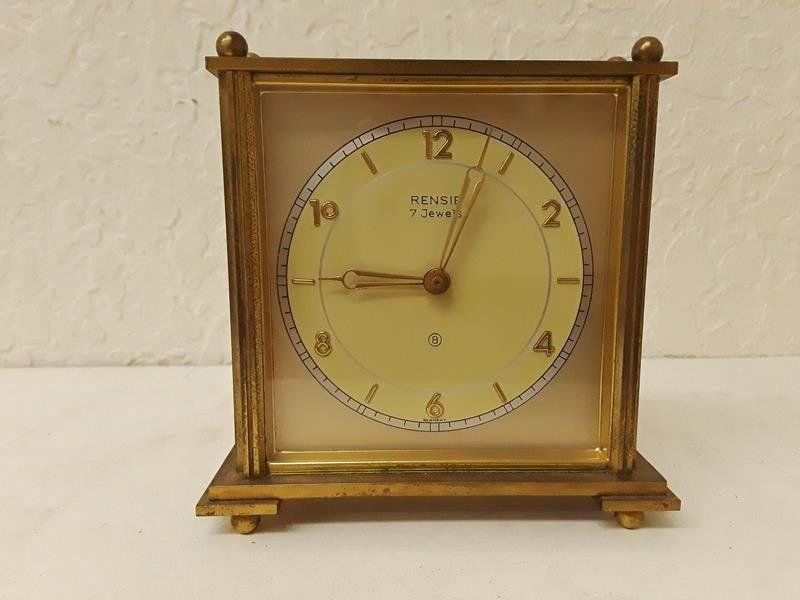 Rensie 7 Jewel Mantle Clock Brass Running Ornamental