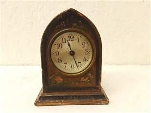 Seth Thomas Ornamental Hand Painted Mantle Clock Antiqu