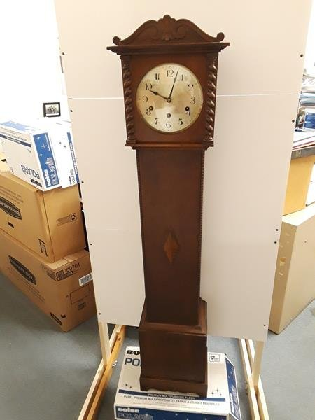Bookend Art Deco Taylor Scroll Barometer Wood And Steel