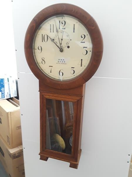 Seth Thomas Penn Railroad Lobby Clock Regulator PRR