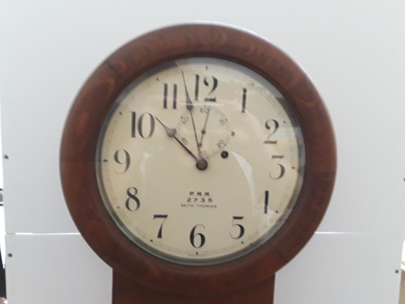 Seth Thomas Penn Railroad Lobby Clock Regulator PRR - 2