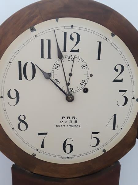 Seth Thomas Penn Railroad Lobby Clock Regulator PRR - 3