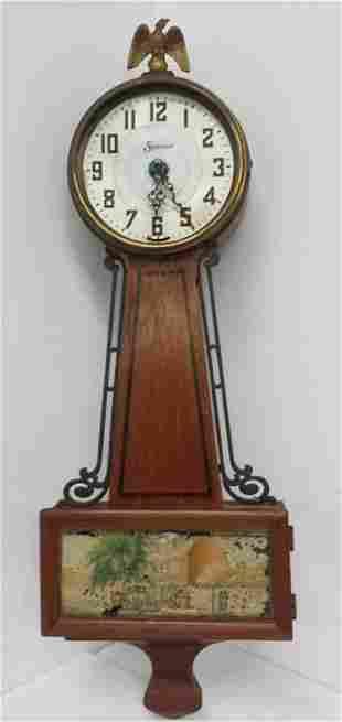 Vintage Antique American Sessions Scene Banjo Clock
