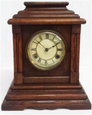 Antique Waterbury Shelf Mantle Clock USA Wood
