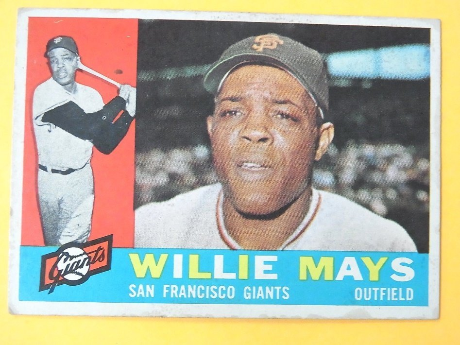 1960 Topps Willie Mays Giants No 200 Baseball Card