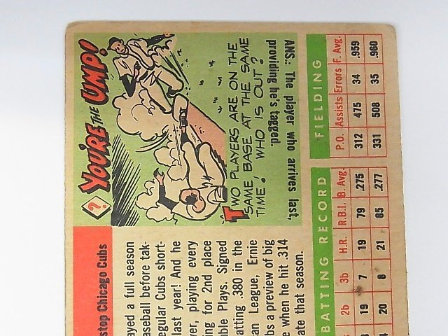 1955 Topps Ernie Banks Chicago Cubs Baseball Card No 28 - 5
