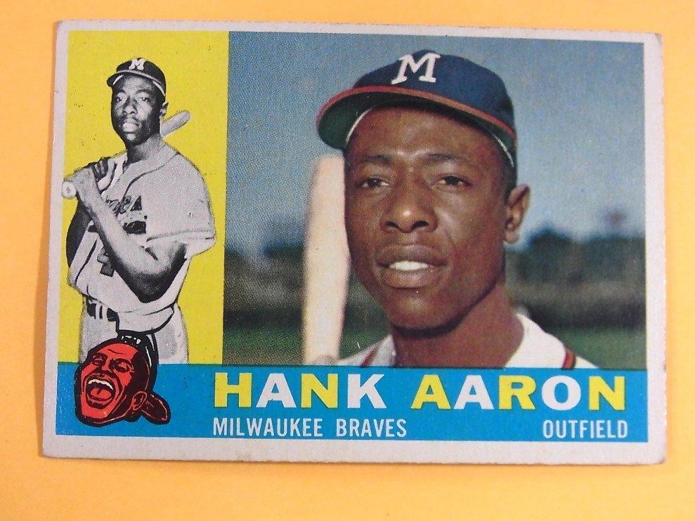 Hank Aaron Milwaukee Braves 1960 Topps Baseball Card