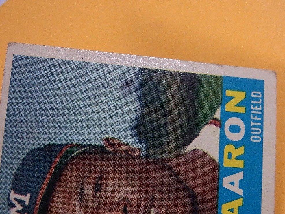 Hank Aaron Milwaukee Braves 1960 Topps Baseball Card - 3