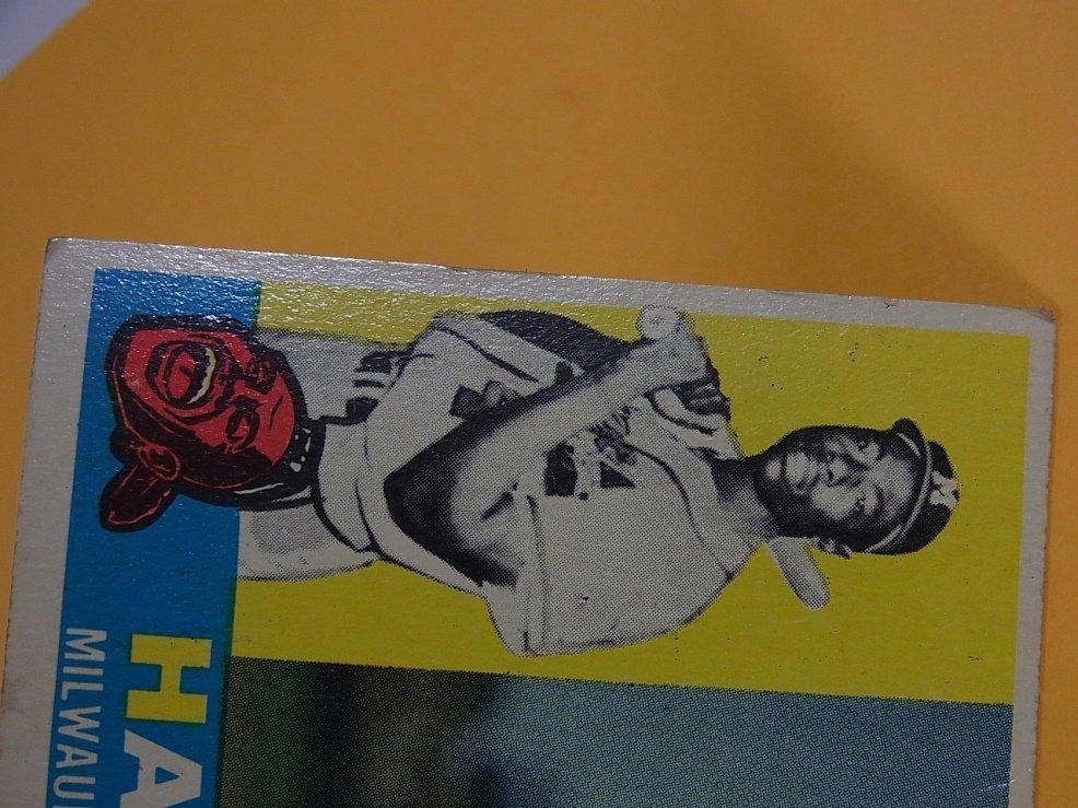 Hank Aaron Milwaukee Braves 1960 Topps Baseball Card - 4