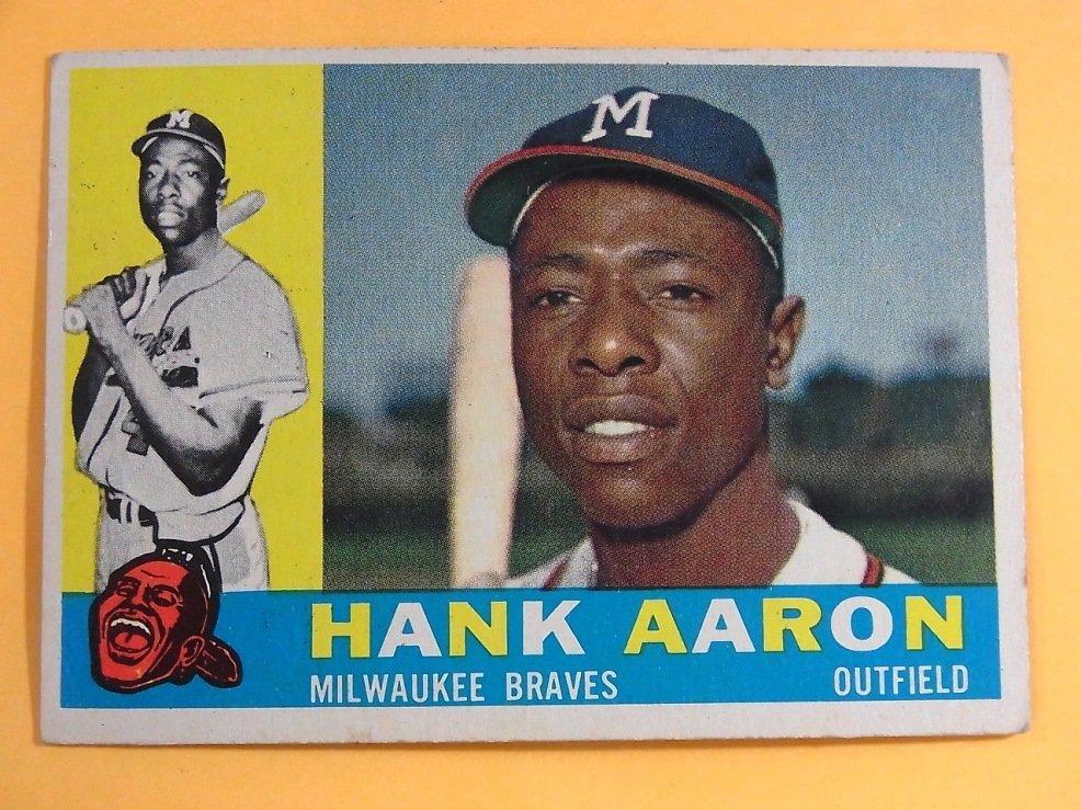 Hank Aaron Milwaukee Braves 1960 Topps Baseball Card - 5