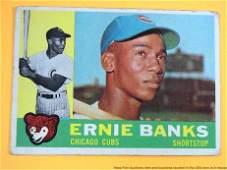 1960 Topps Ernie Banks Chicago Cubs 10 Baseball Card