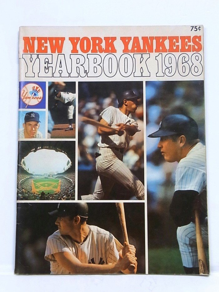 NY Yankees 1968 Yearbook Mantle Last Year Original MINT