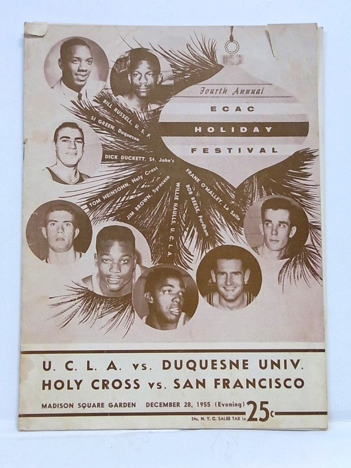 1955 ECAC Basketball MSG College Holiday Program