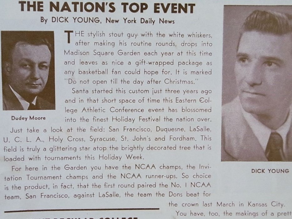 1955 ECAC Basketball MSG College Holiday Program - 2